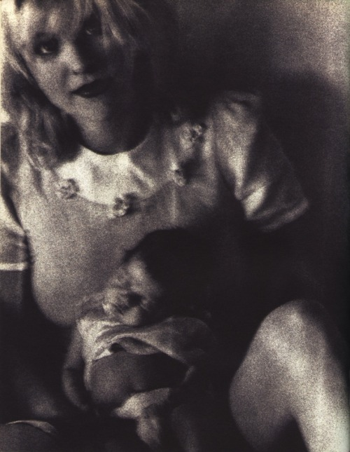 Courtney Love with Frances Bean.