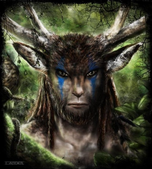 lavadapagan:  in love with this version of Cernunnos he's perfect