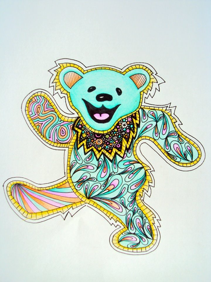 Dead Bear Drawing Grateful Dead Dancing Bear