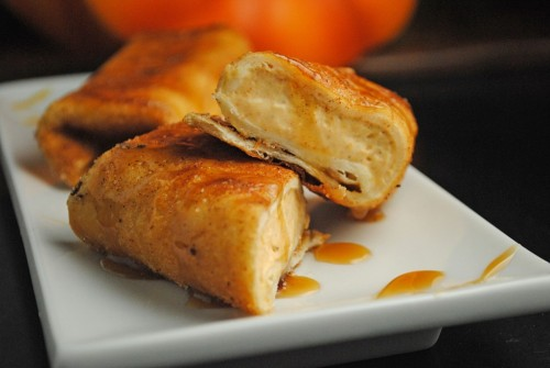 pumpkin cheesecake chimichangas click here for recipe