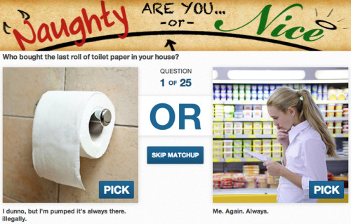 Are you Naughty or Nice? Answer truthfully now and take our quiz.