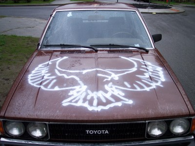 birdlord:  daveshumka:  I just found a picture of this car that used to always be parked outside my house, and it was the greatest.  this is the most majestic of all beasts