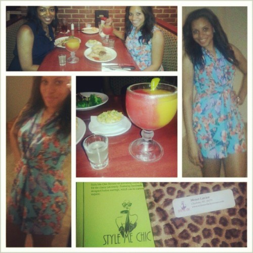@missj_1908 and I. #sipnshop then lunch along with the infamous drinks that took us down. She should've told ud it had tequila in it! I would've sipped it slow! #CharlotteNC #hadfun #aliltipsy #iwasthurstythough #nowimsleepy #callingitanight #cynthiarowleyromper #tiefront #ootd #butterflyprint
