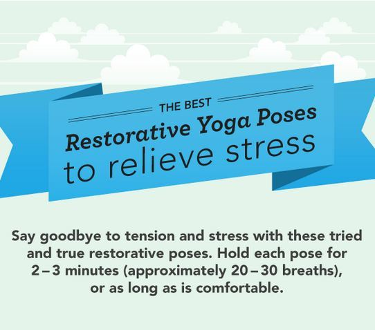 cox-fit:  fitness—health—nutrition:  THE BEST RESTORATIVE YOGA POSES TO RELIEVE STRESS   Infographic from Greatist.com <3<3