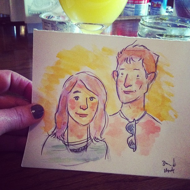 We had our portraits painted at the comic fest at 40watt! ❤❤