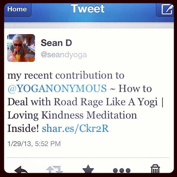 my first piece published on the @yoganonymous blog~ check it out! #yoga #yoganonymous #roadrage #lovingkindness #meditation