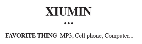 buttension:  we have so much in common xiumin