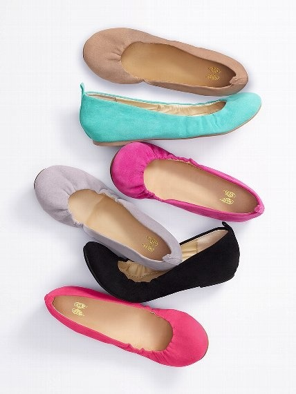 Victorias Secret Scrunch Ballet Flat