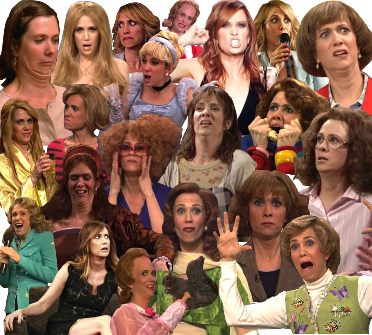 kristen wiig appreciation collage