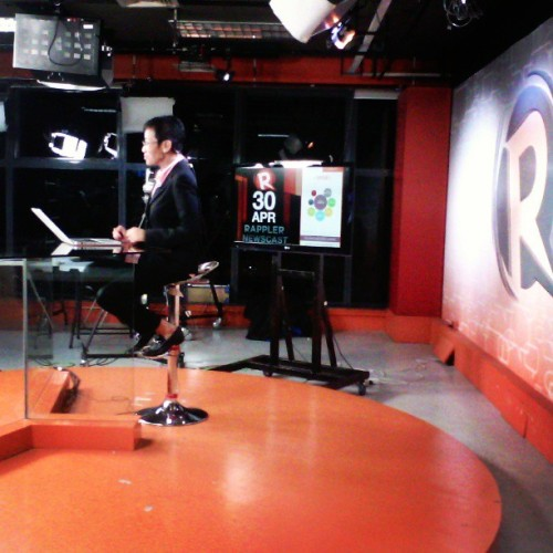 Quiet on the set. #rappleramb @rapplerdotcom @moveph