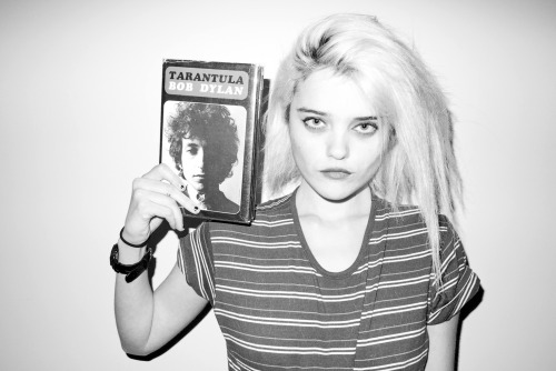 terrysdiary:  Sky Ferreira at my studio #9  I have the paperback edition.