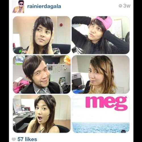 "@megmagazine team wearing #keirahairextensions! RG from @rainierdagala :""Who wore the hair extension best?A.@iamsuperbianca 's barely there B.@rainierdagala 's sideswept ala @xxxibgdrgn C.@klaraiskra 's midpart D. @portiamazing 's@xxxibgdrgn inspired dragon fringe E. @ninghil 's braid ambitions :) THANKS!! #love them all guys!"