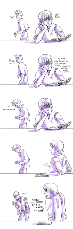 thevaliantfanartist:     god bless awkward first encounters [click to see it better]