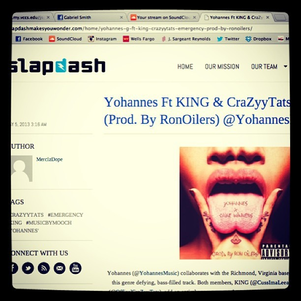 "yohannesmusic:  S/o #SlapDashVA for throwing ""Emergency"" (Prod. By @RonOilers) on the site!! Follow them @SlapdashVa on Twitter 