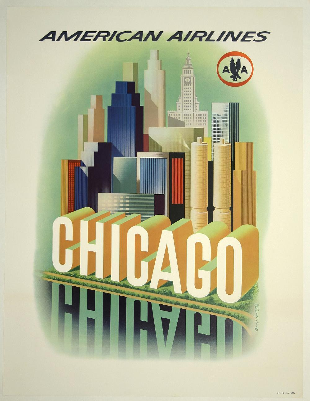 1959 travel poster by Henry K. Bencsath