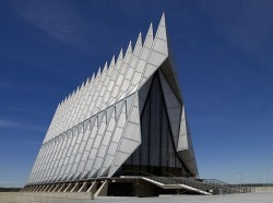 Photo: Carol M. Highsmith Archive. US Air Force Academy Chapel by Walter Netsch, Jr. for Skidmore, Owings & Merrill.