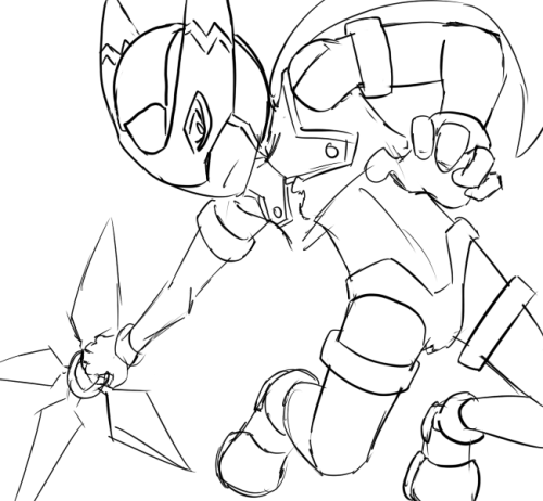 windmegaman:  Spur of the moment doodle. At the same time owed sketch because I told Akua I'd draw Phantom
