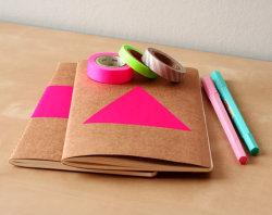 heyhue:  (via Neon Pink Triangle Notebook Handpainted Geometric by LesMiniboux)