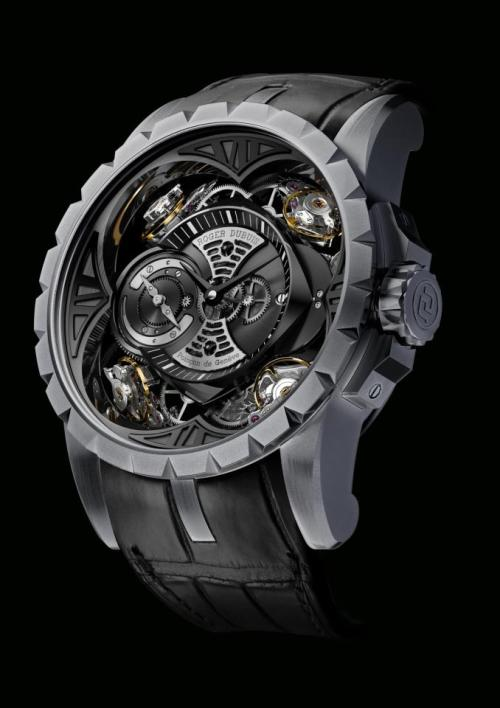 timepieces Roger Dubuis excaliber sihh quad balance wheel quatuor silicium watch