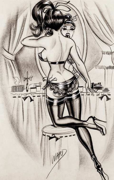 vintagegal:  Illustration by Bill Ward c. 1960's