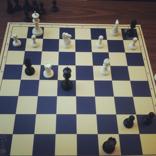 Play chess! Exercise your mind. Guess who wins? #chess #check #checkmate #bowyerandfletcher #sweetscience #knight #rook #queen #king #strategy #gentlemen #leisure