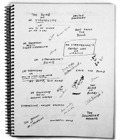 Stanley Kubrick's Brainstorming Titles for 'Dr. Strangelove'