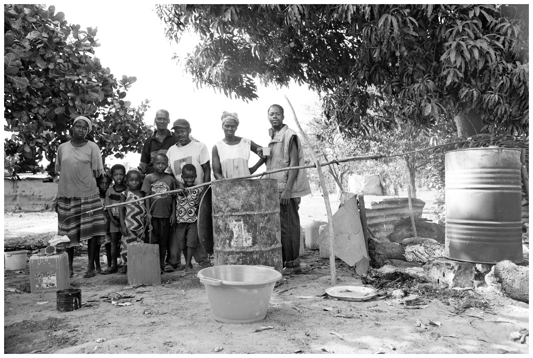 Family with Cashew Wine Brewing Kit - Gambia