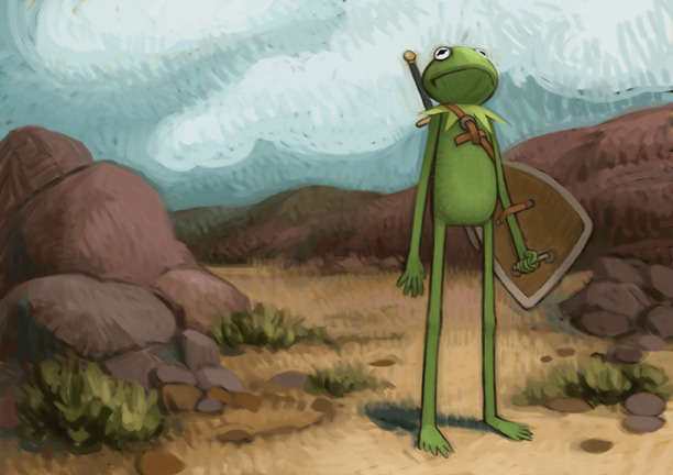 garabating:  Kermit on a Quest by atomicman - Follow @garabatweet and Garabating on Facebook -