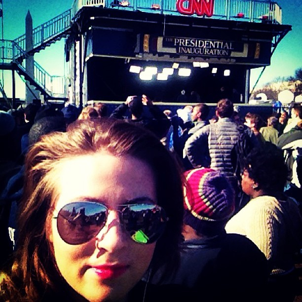 3qualibrium:  In dc #cnn #obama #inauguration