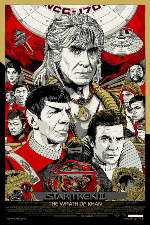 Star Trek The Wrath of Khan by Tyler Stout h/t Banks