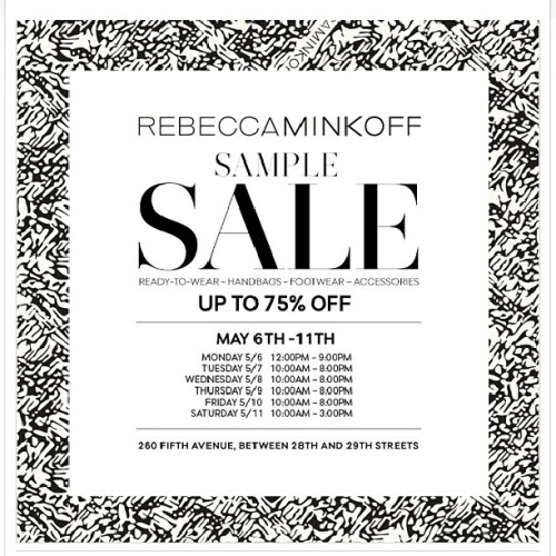 You better catch her Sample sale! It's always packed! #rebeccaminkoff #samplesale