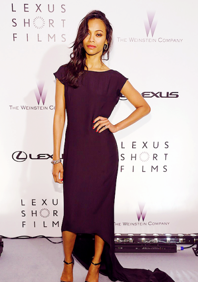 "Zoe Saldana at the the ""Life is Amazing"" event on Sunday in Cannes France."