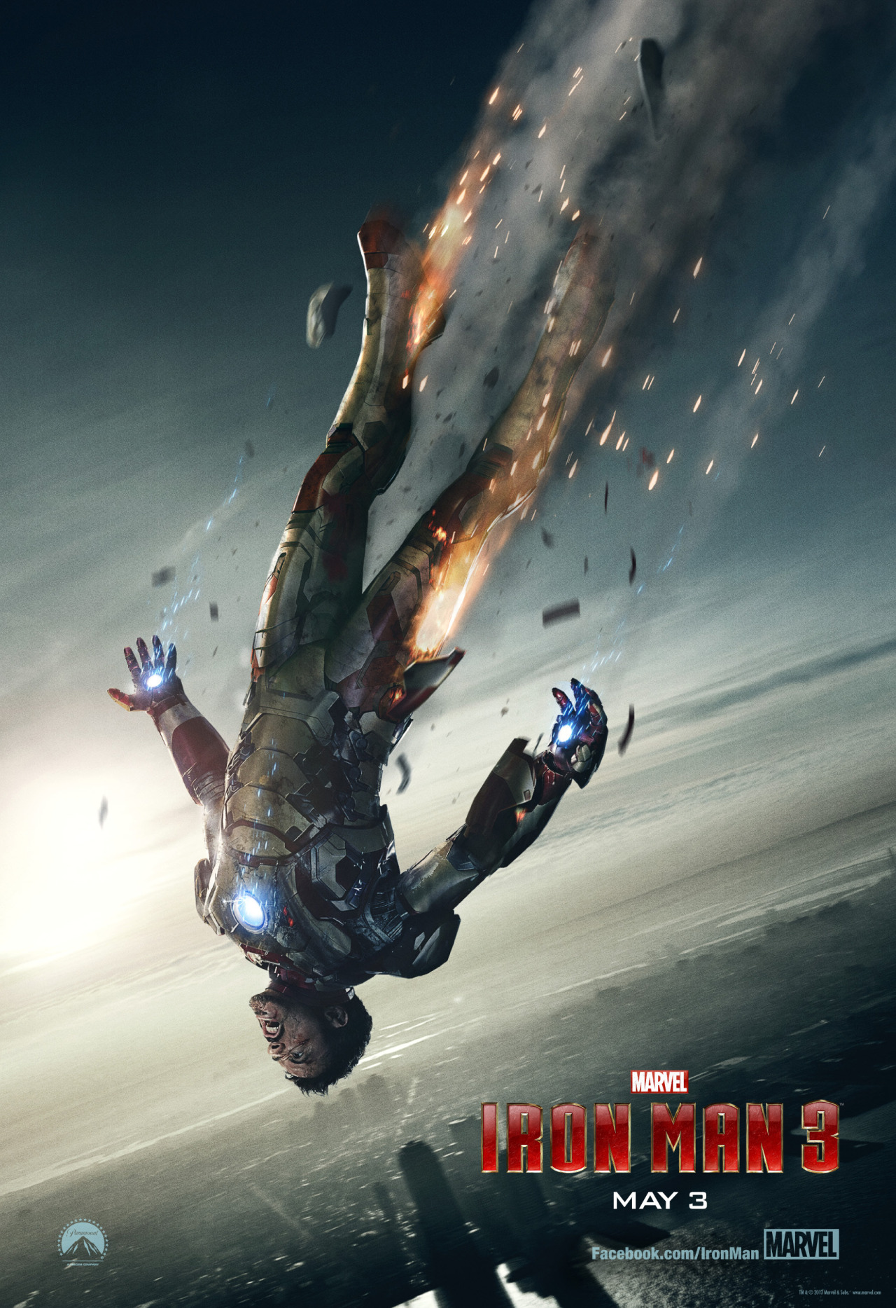 Right on the heels of a new Iron Man 3 trailer dropping Super Bowl sunday. Marvel drops a new poster for the flick and it's not looking to good for Mr. Stark.