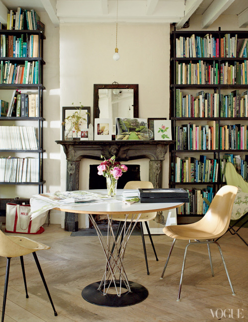 vogue:  Miranda Brooks and Bastien Halard's Brooklyn Home Photographed by François Halard See the slideshow  The floor and the wall paint, I DIE.