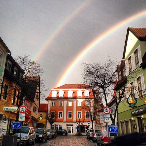 Double rainbow!! #rainbow #rain #sun #weather #oldtown #windsheim #franconia #bavaria #germany #mygermany