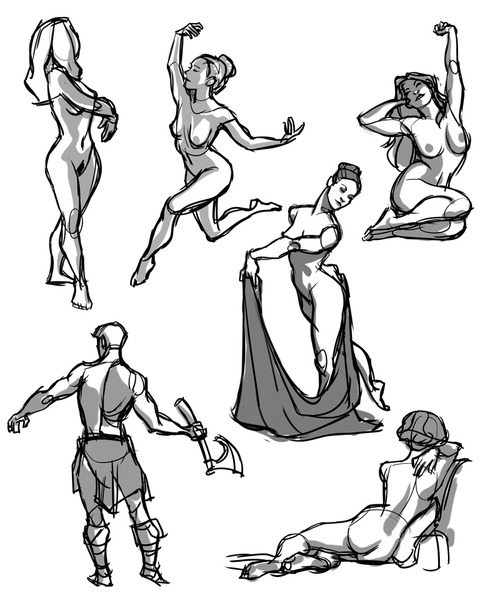 kreugan:  sketches, gesture drawing tool used for refs