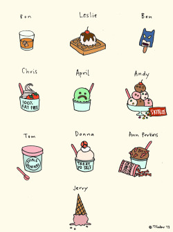 roaring-softly:  Parks and Rec Ice Cream (by Tyler Feder)