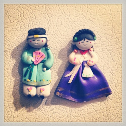 Cute magnets my father got while in #korea !!
