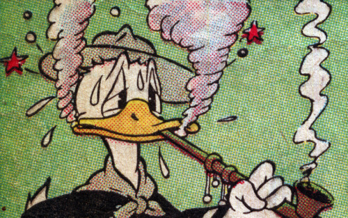 mudwerks:  (via Donald Duck - 4CP | Four Color Process)  Art by Al Taliaferro, scanned from a 1941 reprint of a 1938 newspaper strip.