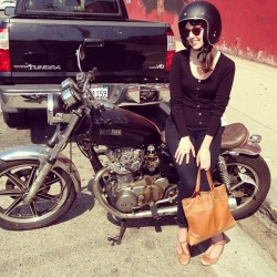 Baby's first motorcycle.  (at LA Gun Club)