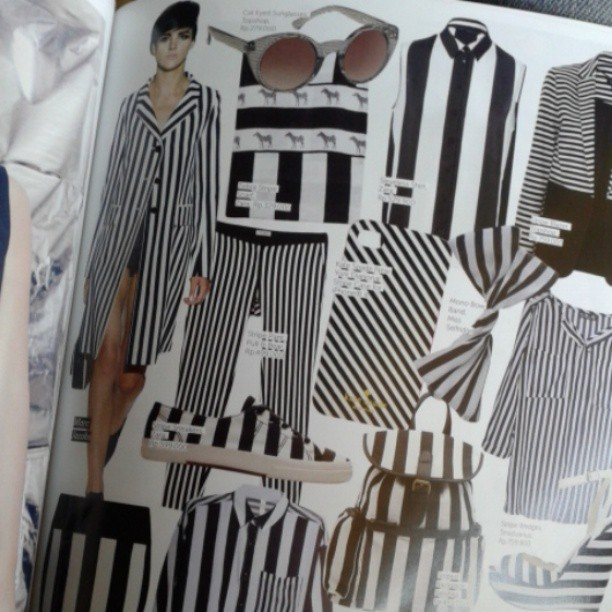 black and white is the new colorful #fashion #blackandwhite #stripes #runaway