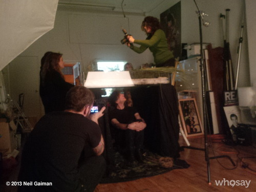 I'm under the table getting my photo taken.View more Neil Gaiman on WhoSay