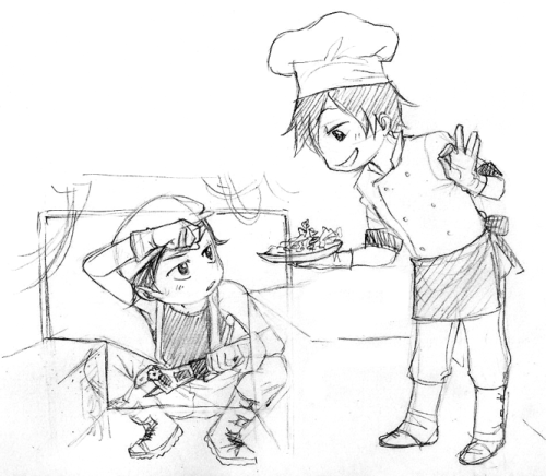 zu-art:  and then Manu picks up the food with his dirty hands and Miguel nearly faints    BABIES BABIES BABIES BABIESSSSSSSSSSSSSSUPSDFOIJSFOIJSHU