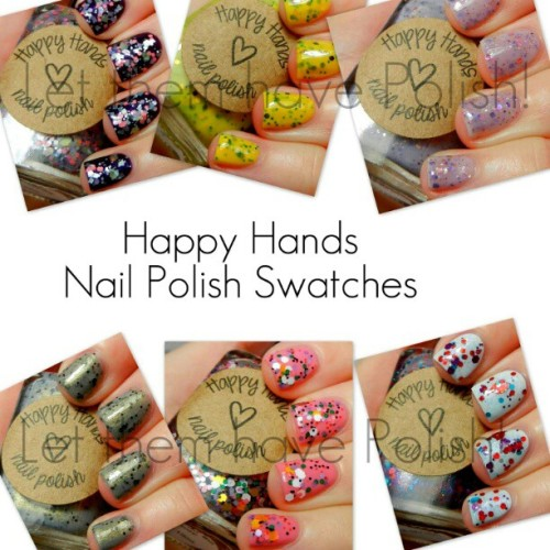 On the blog today are somw swatches of @happyhandsnailpolish Beauties!!! #officialletthemhavepolish #happyhands #nailpolish #nailporn #nailcolor #glitter #etsy