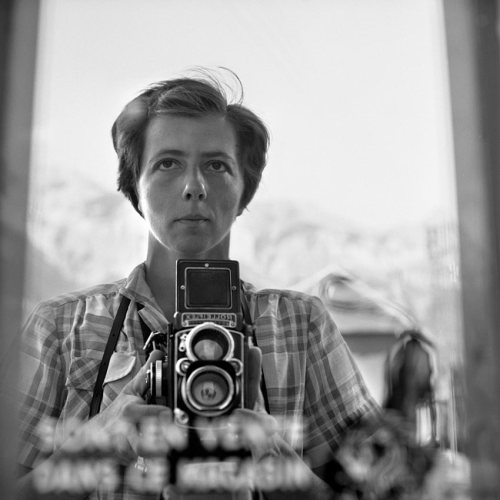 Vivian Maier — Self Portrait, 1959 The story of a nanny and street photographer whose exceptional work remained undiscovered until 2007. Found at Auction: The Unseen Photographs of a Legend that Never Was vivianmaier.com (portfolio)findingvivianmaier.com (documentary) (Thank you D.)