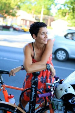 """The future face of biking is going to be women and families and I am passionate about the empowerment of women and girls."" Read the whole article here: http://blog.bikeleague.org/blog/2013/04/women-bike-wednesday-jess-matthews-the-ohio-womens-bicycling-summit/"