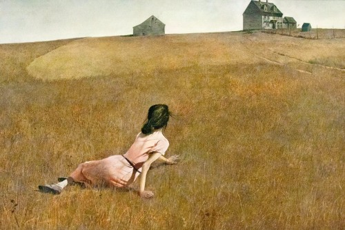 iianddf:  Andrew Wyeth, Christina's World, 1948   If you don't know the history of this painting, look it up. This painting will always haunt me.