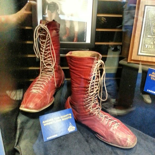 Andre the Giant's boots on display at #wrestlemania #axxess. Amazing. #wrestling #wwe
