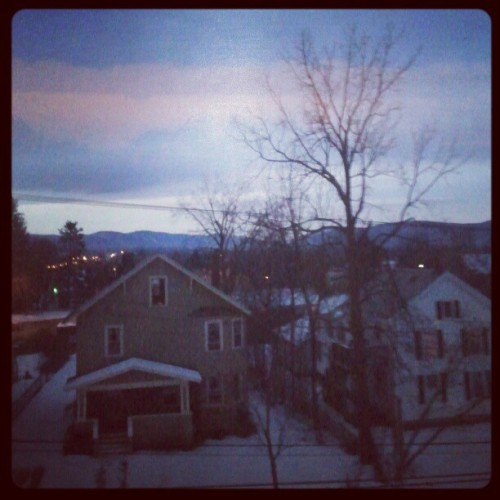 Seven o'clock and light out. Summer's almost here! #rutland  #vermont