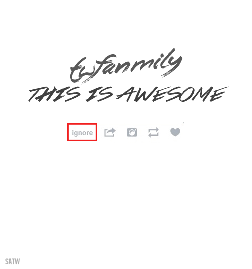 PLEASE READ THIS AND REBLOG You all! This little button is so powerful. Hover over it so it can appear. We see so much hate on the boys' tags and we must remind ourselves that fighting hate will hate will not do anything. Mostly because arguments used are arguments kept and because people are ignorant and refuse to let things die. But be mature. You have nothing to prove. If you love the boys, love them. Do not waste your time or strength with haters. They are not worthy of your attention. We are here for the boys and we must stand united. Please let it go and be the bigger person. Ignore it knowing that you are right but that hate isn't. Spread love among one another. And if hate is coming your way, do not listen to it. You are worth every single breath you take. We, the fanmily, can vouch for that.